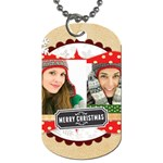 merry christmas - Dog Tag (One Side)