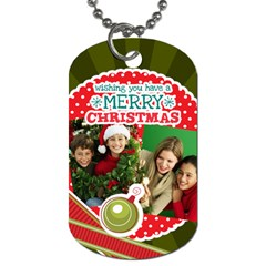 Merry Christmas By Merry Christmas   Dog Tag (two Sides)   Xrkvvpstx8f9   Www Artscow Com Back