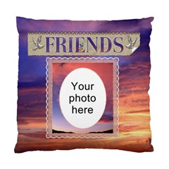 Friends Cushion Case (2 Sides) By Lil    Standard Cushion Case (two Sides)   5ebxm06x9dj5   Www Artscow Com Back