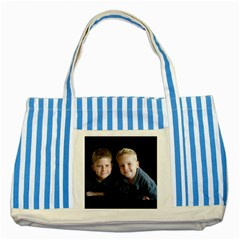 Deborah Veatch New Pic Design7  Blue Striped Tote Bag by tammystotesandtreasures