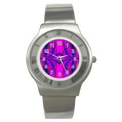Modern Art Stainless Steel Watch (unisex) by Siebenhuehner