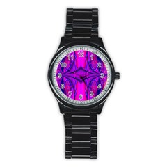 Modern Art Sport Metal Watch (black) by Siebenhuehner