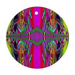 Modern Art Round Ornament (two Sides) by Siebenhuehner