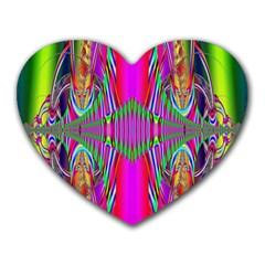 Modern Art Mouse Pad (heart) by Siebenhuehner