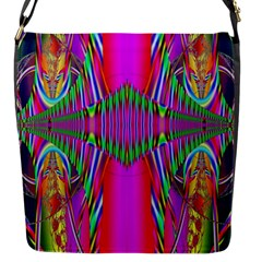 Modern Art Flap Closure Messenger Bag (small) by Siebenhuehner