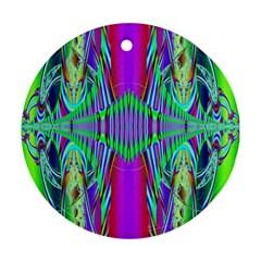 Modern Design Round Ornament by Siebenhuehner