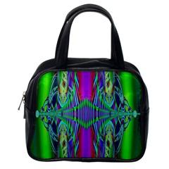 Modern Design Classic Handbag (one Side) by Siebenhuehner