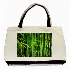 Bamboo Twin Sided Black Tote Bag by Siebenhuehner