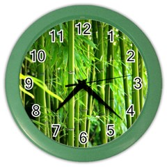 Bamboo Wall Clock (color) by Siebenhuehner