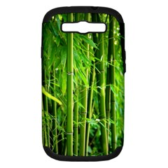 Bamboo Samsung Galaxy S Iii Hardshell Case (pc+silicone) by Siebenhuehner