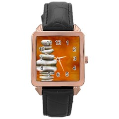 Balance Rose Gold Leather Watch  by Siebenhuehner