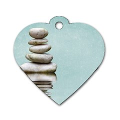 Balance Dog Tag Heart (two Sided) by Siebenhuehner