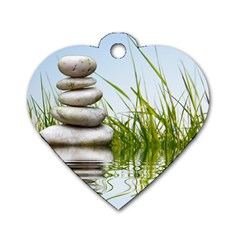 Balance Dog Tag Heart (one Sided)  by Siebenhuehner