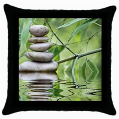 Balance Black Throw Pillow Case by Siebenhuehner