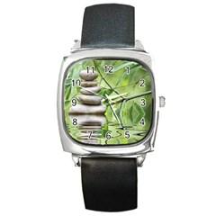 Balance Square Leather Watch by Siebenhuehner