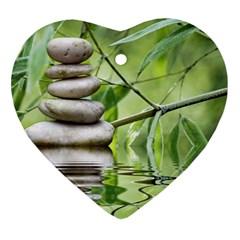 Balance Heart Ornament (two Sides) by Siebenhuehner