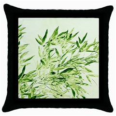 Bamboo Black Throw Pillow Case by Siebenhuehner