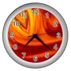 Wave Wall Clock (silver) by Siebenhuehner