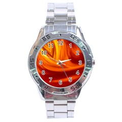 Wave Stainless Steel Watch (men s) by Siebenhuehner