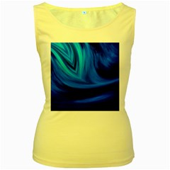 Wave Womens  Tank Top (yellow) by Siebenhuehner