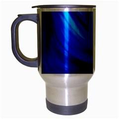 Wave Travel Mug (silver Gray) by Siebenhuehner