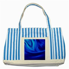 Wave Blue Striped Tote Bag by Siebenhuehner