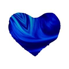 Wave 16  Premium Heart Shape Cushion  by Siebenhuehner