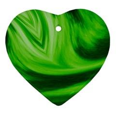 Wave Heart Ornament by Siebenhuehner