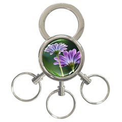 Flower 3 Ring Key Chain by Siebenhuehner