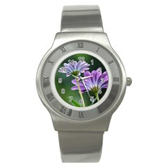 Flower Stainless Steel Watch (unisex) by Siebenhuehner