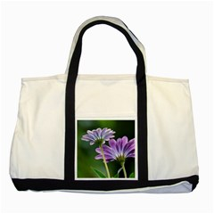 Flower Two Toned Tote Bag by Siebenhuehner