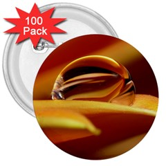 Waterdrop 3  Button (100 Pack) by Siebenhuehner
