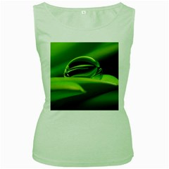 Waterdrop Womens  Tank Top (green) by Siebenhuehner