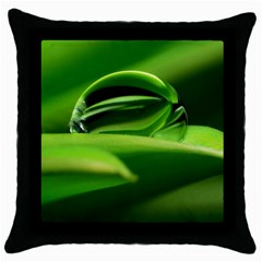 Waterdrop Black Throw Pillow Case by Siebenhuehner