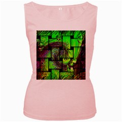 Modern Art Womens  Tank Top (pink) by Siebenhuehner