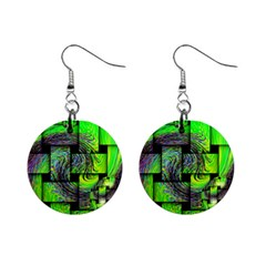 Modern Art Mini Button Earrings by Siebenhuehner