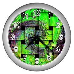 Modern Art Wall Clock (silver) by Siebenhuehner
