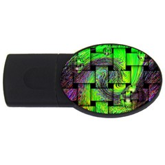 Modern Art 4gb Usb Flash Drive (oval) by Siebenhuehner