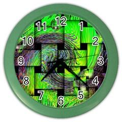 Modern Art Wall Clock (color) by Siebenhuehner