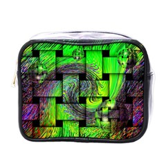 Modern Art Mini Travel Toiletry Bag (one Side) by Siebenhuehner