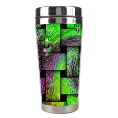 Modern Art Stainless Steel Travel Tumbler by Siebenhuehner