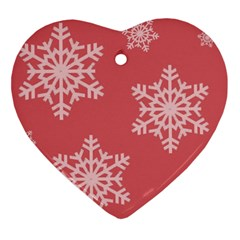 Let It Snow Heart Ornament
