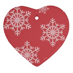 Let It Snow Heart Ornament (two Sides) by PaolAllen