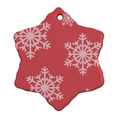 Let It Snow Snowflake Ornament (two Sides)