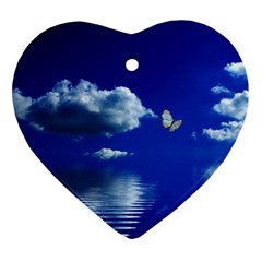 Sky Heart Ornament (two Sides)