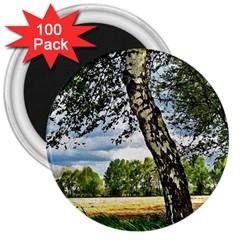 Trees 3  Button Magnet (100 Pack) by Siebenhuehner