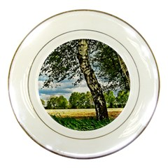 Trees Porcelain Display Plate by Siebenhuehner