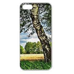 Trees Apple Seamless Iphone 5 Case (clear) by Siebenhuehner