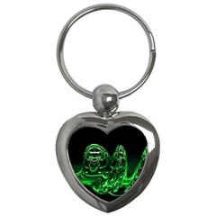 Modern Art Key Chain (heart) by Siebenhuehner