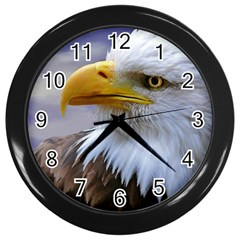 Bald Eagle Wall Clock (black) by Siebenhuehner